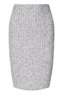 Серая трикотажная юбка St. John