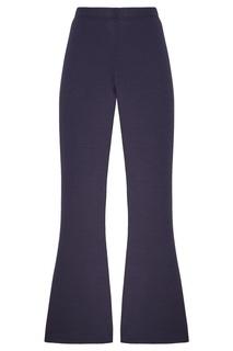 Темно-синие брюки с эластичным поясом St. John