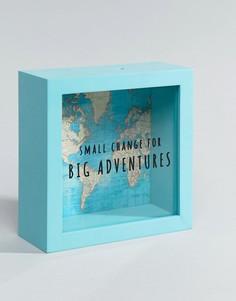 Винтажная копилка с принтом карты мира Sass & Belle Big Adventures - Мульти