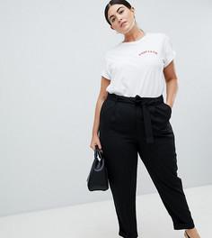 Тканые брюки-галифе с завязкой ASOS DESIGN Curve - Черный