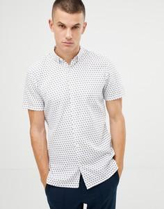 Рубашка с короткими рукавами и принтом Tom Tailor - Белый