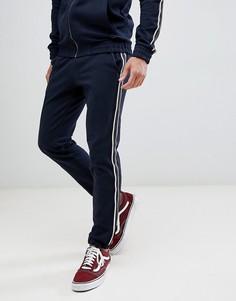 Джоггеры с лентой по бокам Tom Tailor fashion - Темно-синий
