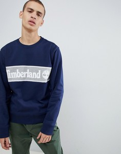 Свитшот с логотипом (темно-синий/серый) Timberland - Темно-синий