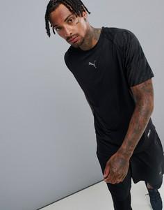 Черная футболка с разрезами и принтом Puma 516856-01 - Черный