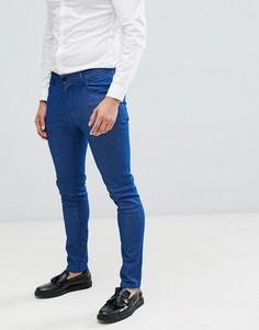 Синие джинсы скинни в строгом стиле ASOS DESIGN - Синий