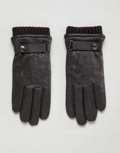 Кожаные перчатки для сенсорных экранов Dents Henley - Коричневый