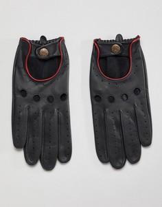 Кожаные перчатки для вождения Dents - Черный