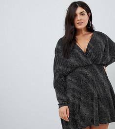 Платье мини в стиле 80-х Club L Plus - Мульти