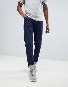Синие выбеленные джинсы скинни с золотистой нашивкой Love Moschino - Синий