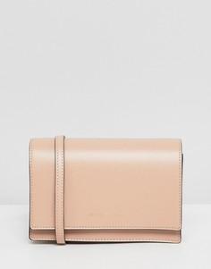 Миниатюрная сумка через плечо Emporio Armani - Бежевый