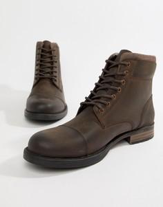 Коричневые ботинки со вставкой на носке Silver Street - Коричневый