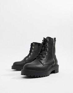 Ботинки со шнуровкой ASOS DESIGN Abra - Черный