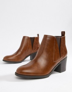 Ботинки челси на каблуке Office - Рыжий