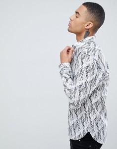 Рубашка с длинными рукавами и принтом Moss London - Серый
