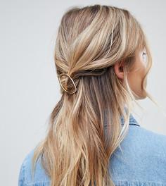 Золотистая заколка для волос DesignB London - Золотой