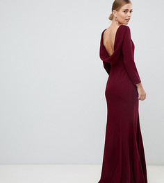 Платье макси с воротом-хомут Yaura - Красный