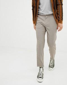 Коричневые укороченные брюки Bershka - Коричневый