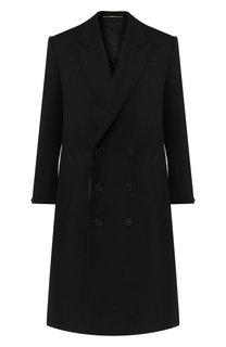 Двубортное пальто из шерсти Givenchy