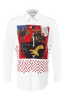Хлопковая рубашка с воротником кент Comme des Garcons