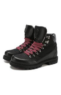 Комбинированные ботинки на шнуровке Bogner