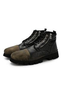 Кожаные ботинки на шнуровке Rocco P.