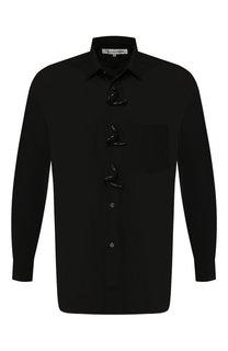 Хлопковая рубашка с декоративными застежками Comme des Garcons