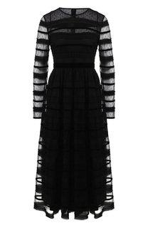 Приталенное платье-миди с круглым вырезом REDVALENTINO