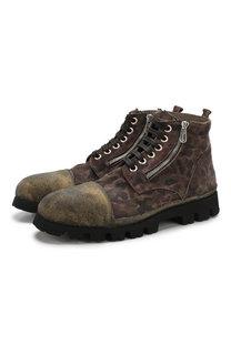 Замшевые ботинки на шнуровке Rocco P.