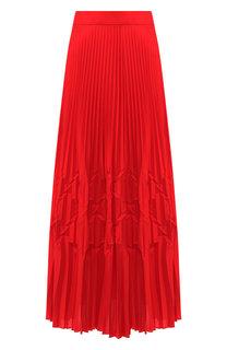 Однотонная плиссированная юбка-миди Givenchy