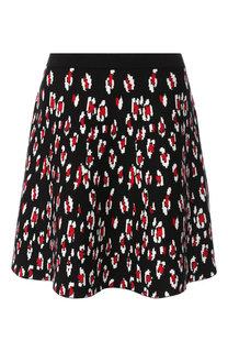 Мини-юбка с вышитым принтом DKNY