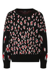 Пуловер с вышитым принтом DKNY