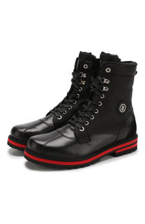 Комбинированные ботинки Courchevel на шнуровке с внутренней меховой отделкой Bogner