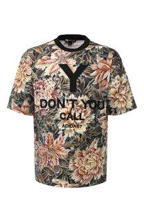 Хлопковая футболка с принтом и вышивкой Y-3