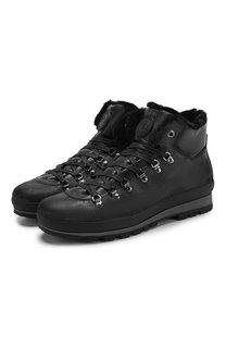 Кожаные ботинки на шнуровке с внутренней меховой отделкой Bogner