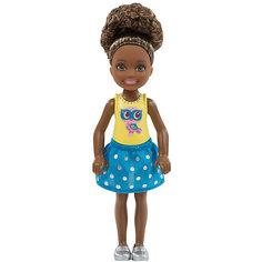 "Мини-кукла Barbie ""Клуб Челси"" в голубой юбке, 13,5 см Mattel"