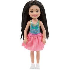 "Мини-кукла Barbie ""Клуб Челси"" в розовой юбке, 13,5 см Mattel"