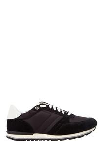 Черные кроссовки с контрастной шнуровкой Hugo Boss