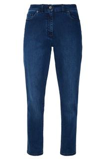 Синие зауженные джинсы St. John