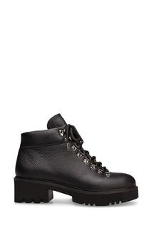 Черные ботинки со шнуровкой Portal