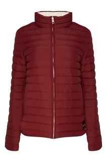 Бордовая стеганая куртка Calvin Klein