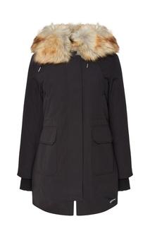 Черная куртка с меховой отделкой Calvin Klein