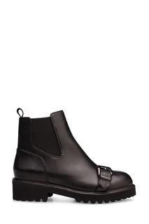Черные ботинки с пряжкой Portal