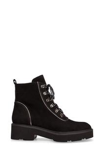 Черные замшевые ботинки Portal