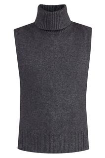 Вязаный серый жилет Etro