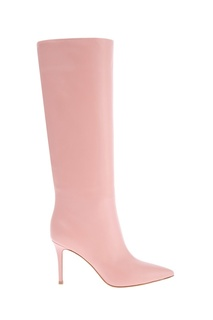 Розовые кожаные сапоги Gianvito Rossi