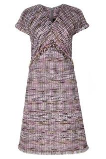 Фактурное сиреневое платье St. John