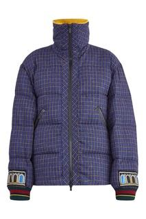 Синяя куртка в клетку Etro