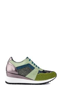 Комбинированные кроссовки с шелком School 77