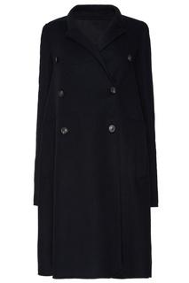 Черное шерстяное пальто Rick Owens