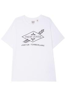 Белая хлопковая футболка с логотипом Levis®